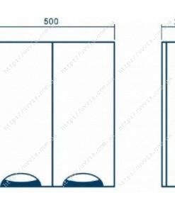 шкаф навесной грация 50 чертеж